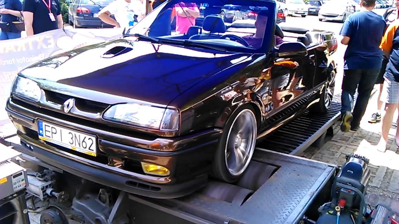 renault 19 16v cabrio on the dyno youtube. Black Bedroom Furniture Sets. Home Design Ideas