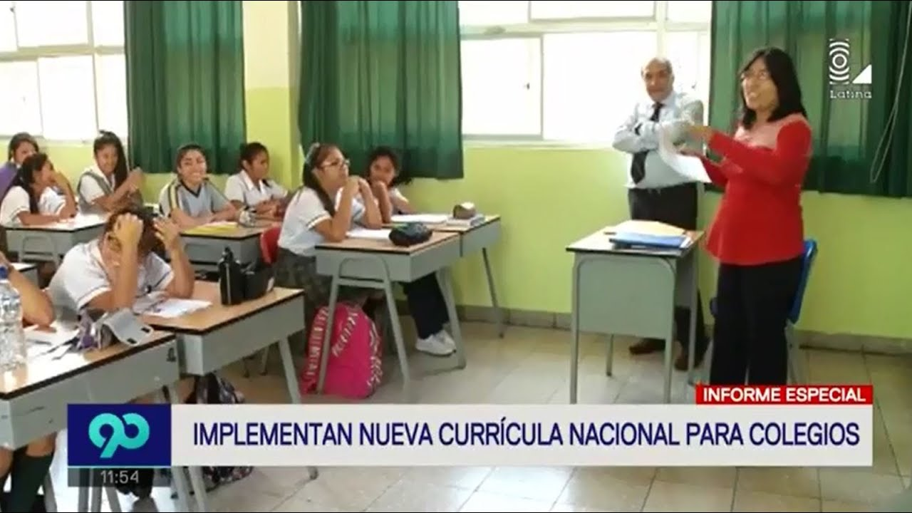 Implementan nuevo currículo nacional para colegios - YouTube