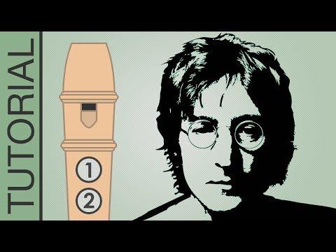 Imagine (John Lennon) - Recorder Notes Tutorial