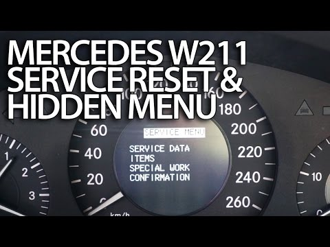 How to reset service reminder in Mercedes-Benz W211 (emissions inspect. performed on time?) E-Class