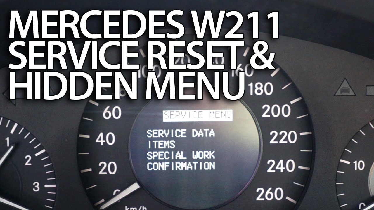 Mercedes W211 service reminder reset - mr-fix info