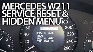 Як скинути нагадування про технічному обслуговуванні в Мерседес-Бенц W211 Мерседес (перевірити викиди. виконується на час?) E-Класу