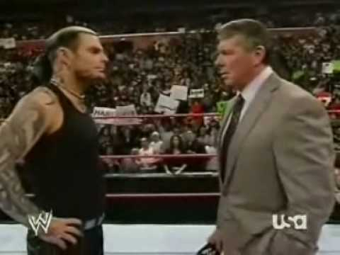 Jeff Hardy Tell's Vince Mcmahon Off On RAW