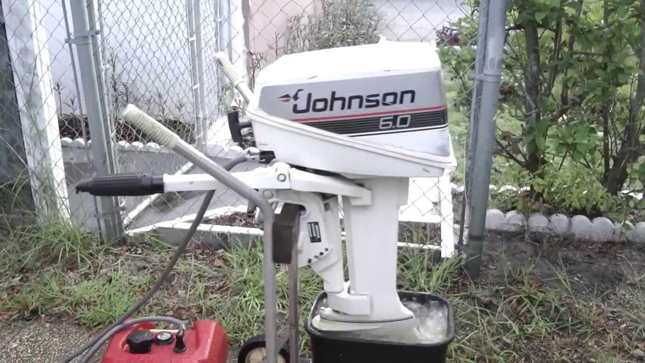 Johnson 6hp Shortshaft Tiller Outboard Motor 2 Stroke Youtube