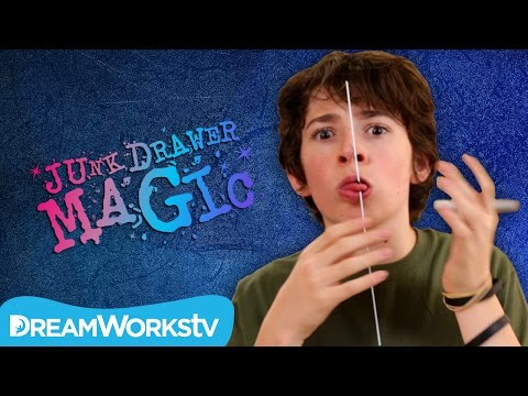 Skewer Through Tongue Trick | JUNK DRAWER MAGIC
