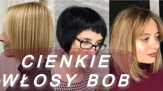 Top 20 modne 💋 fryzura bob na cienkich wlosach
