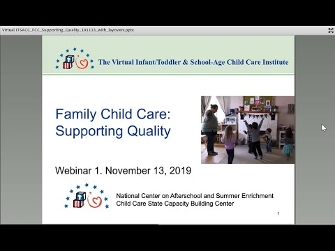 Family Child Care: Supporting Quality