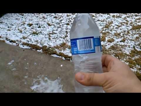 Bottled Water At 18 Degrees Fahrenheit... Not Frozen Until Shaken.