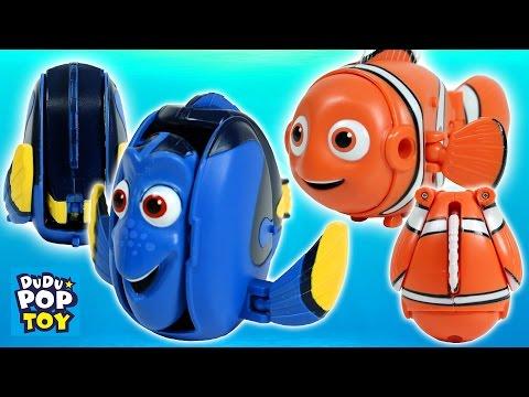 디즈니 픽사 도리를 찾아서 알모양 변신 장난감 물놀이(Disney Pixar Finding Dory toys transform from Eggs Swimming Dory)