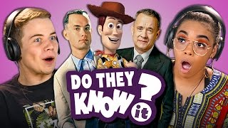 Do Teens Know Tom Hanks Movies? React: Do They Know It?