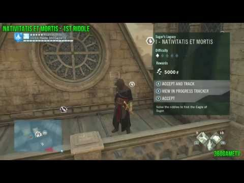 Assassins Creed Unity DLC Dead Kings - Nativitatis et Mortis Sugers Legacy Solution from YouTube · Duration:  2 minutes 7 seconds