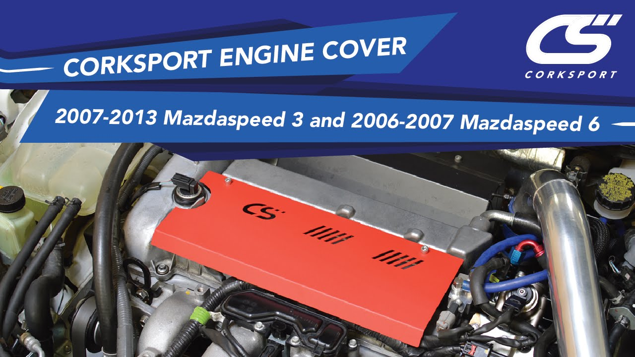 Corksport Engine Cover For 2007 2013 Mazdaspeed 3 And 2006 Wiring Harness 6