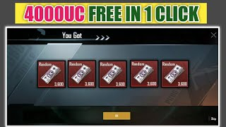 free 4000Uc Pubg Mobile in 1 Click ! How to Get Free Uc On Pubg Mobile ! How to Get Free Uc On Pubg