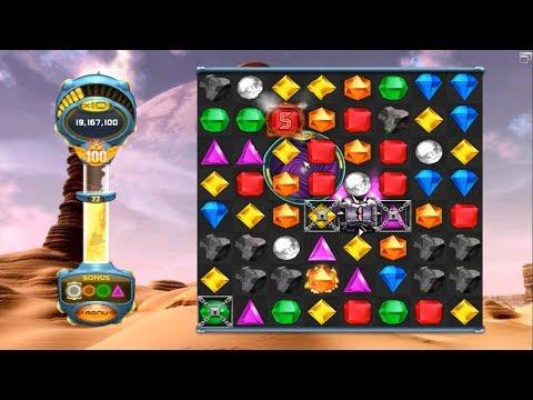 Bejeweled Twist - Classic Mode - Part 27: Level 77 - Danger Doom Gem (Visualizer Off)