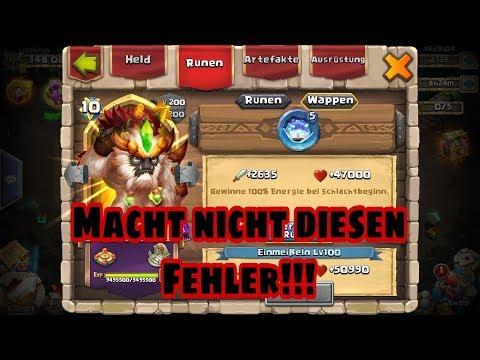 Castle Clash - Runen/Wappen - Macht Nicht Diesen Fehler!!! - [ja©kAss]