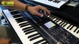 Review keyboard Roland E-A7 cách dùng tiếng USER từ  SAMPLER