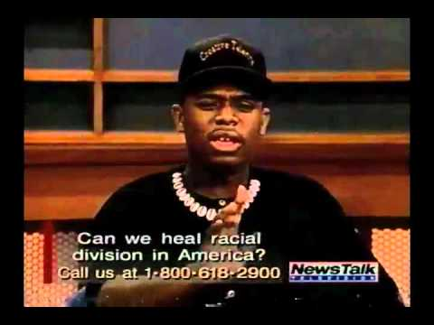 "Edward C. Lawson on ""News Media Talk"" Show in 1995 - BLACK vs. WHITE  - Part 5/8"