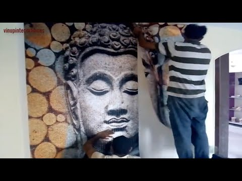 How to Install 3D Wallpaper || Wallpaper installation in India in Hindi | wallpaper pasting India
