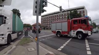 Feuerwehreinsatz Hochwasser Innerste Hildesheim 26.07.17