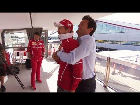 F1 2017 British GP  When Mark Webber met Sebastian Vettel