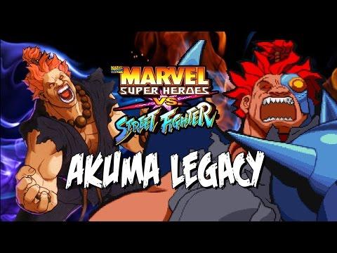 THE CRAZIEST AKUMA - Akuma Legacy: Marvel Super Heroes Vs. Street Fighter