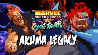THE CRAZIEST AKUMA - Akuma Legacy: Marvel Super Heroes Vs. Street Fighter