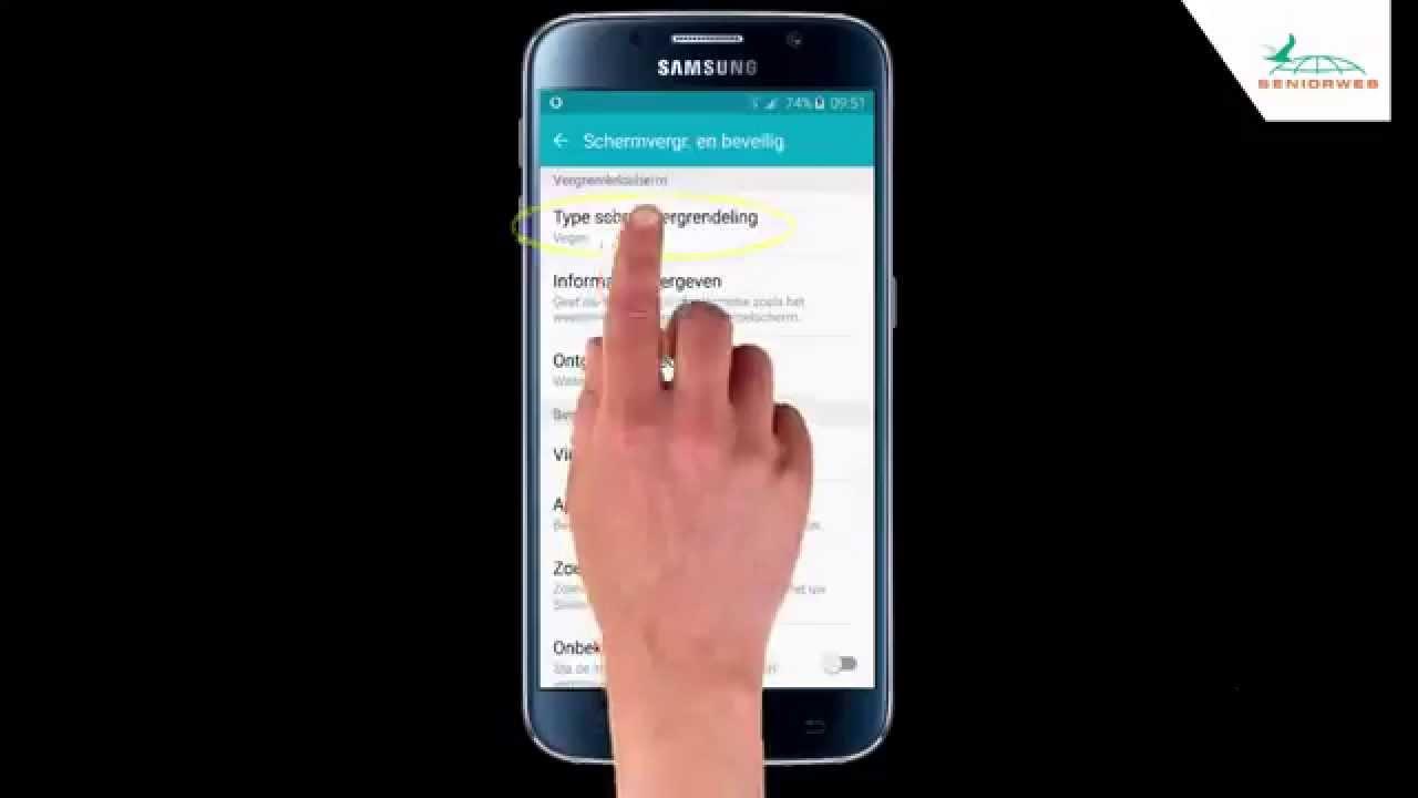 Samsung Galaxy S6: een wachtwoord instellen