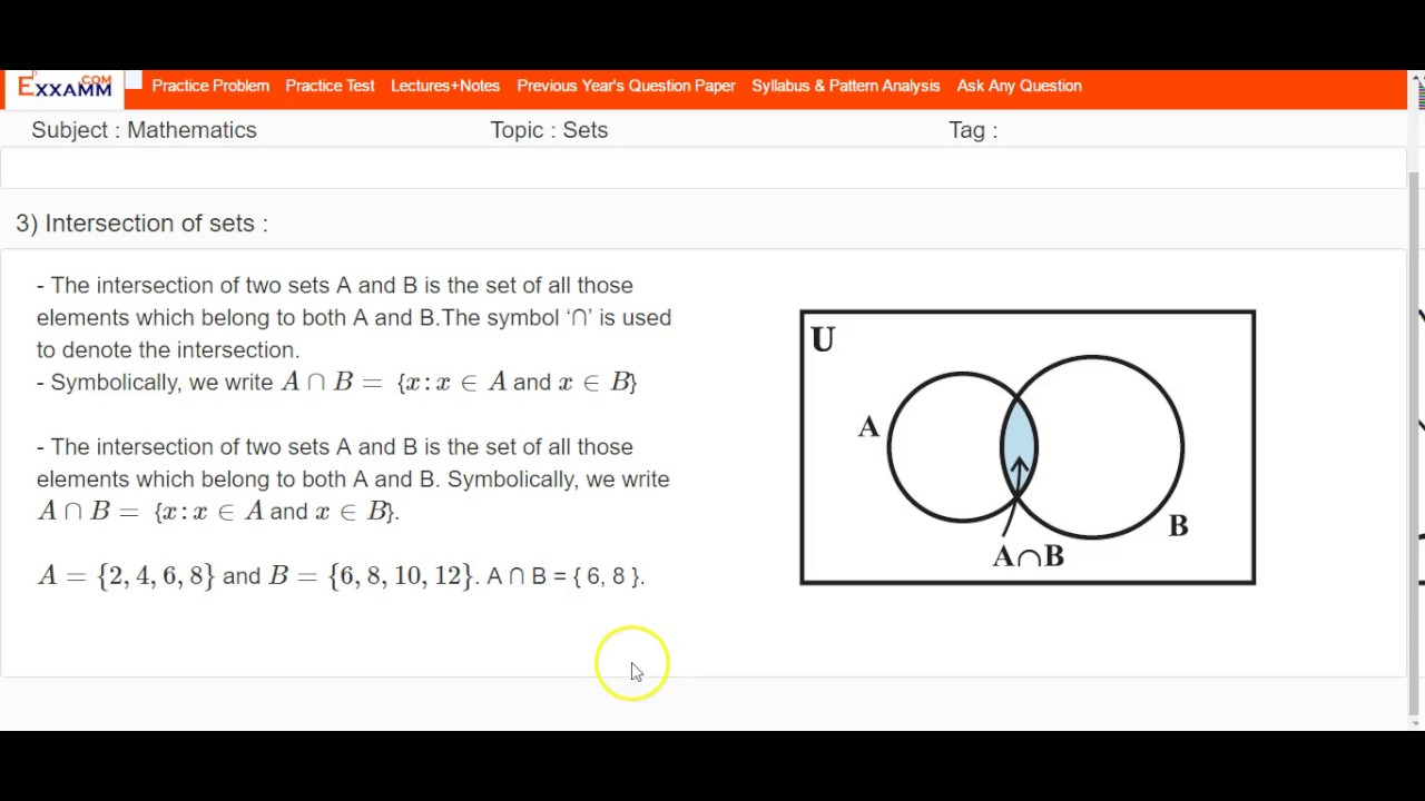 Set theory for class 11 cbse ncert 12469 part 2 youtube set theory for class 11 cbse ncert 12469 part 2 buycottarizona Images