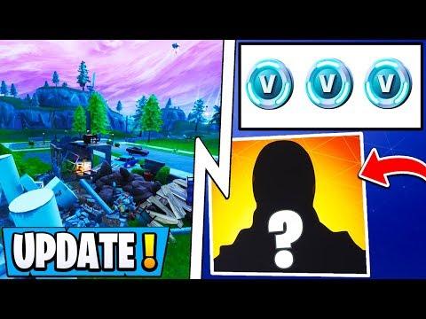 *NEW* Fortnite Update! | Monster Destroys Map, Secret Skin, 2500 Free Vbucks!