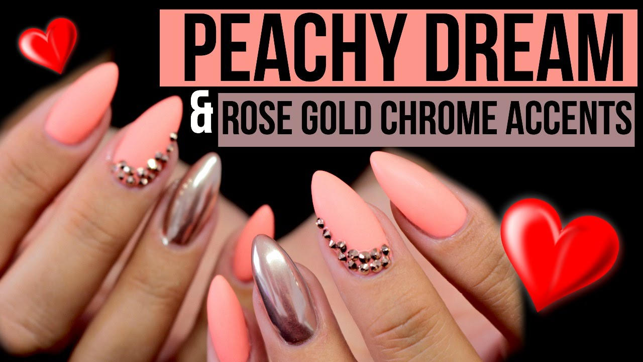 NEON PEACHY DREAM, ROSE GOLD CHROME & SWAROVSKI ACCENTS | LED LAMP ...