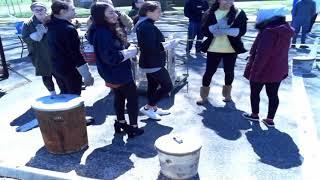 Ms. Devlin's Ceramic's Class Raku Firing