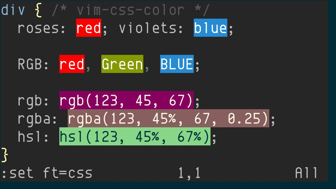 Color picker online rgba - Vim Css Color Previewing Css Colors