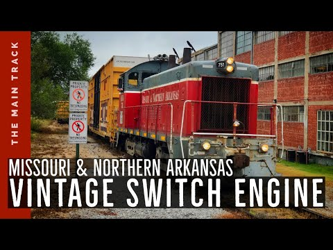 HD: Amazing 50-year old train engine still working hard for the railroad!
