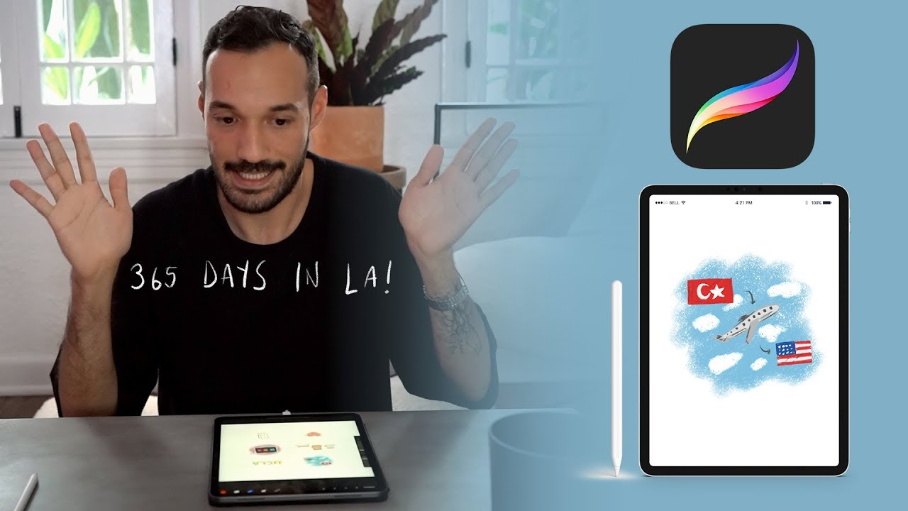 365 DAYS IN LA – DRAWING MY LIFE WITH PROCREATE 🖍