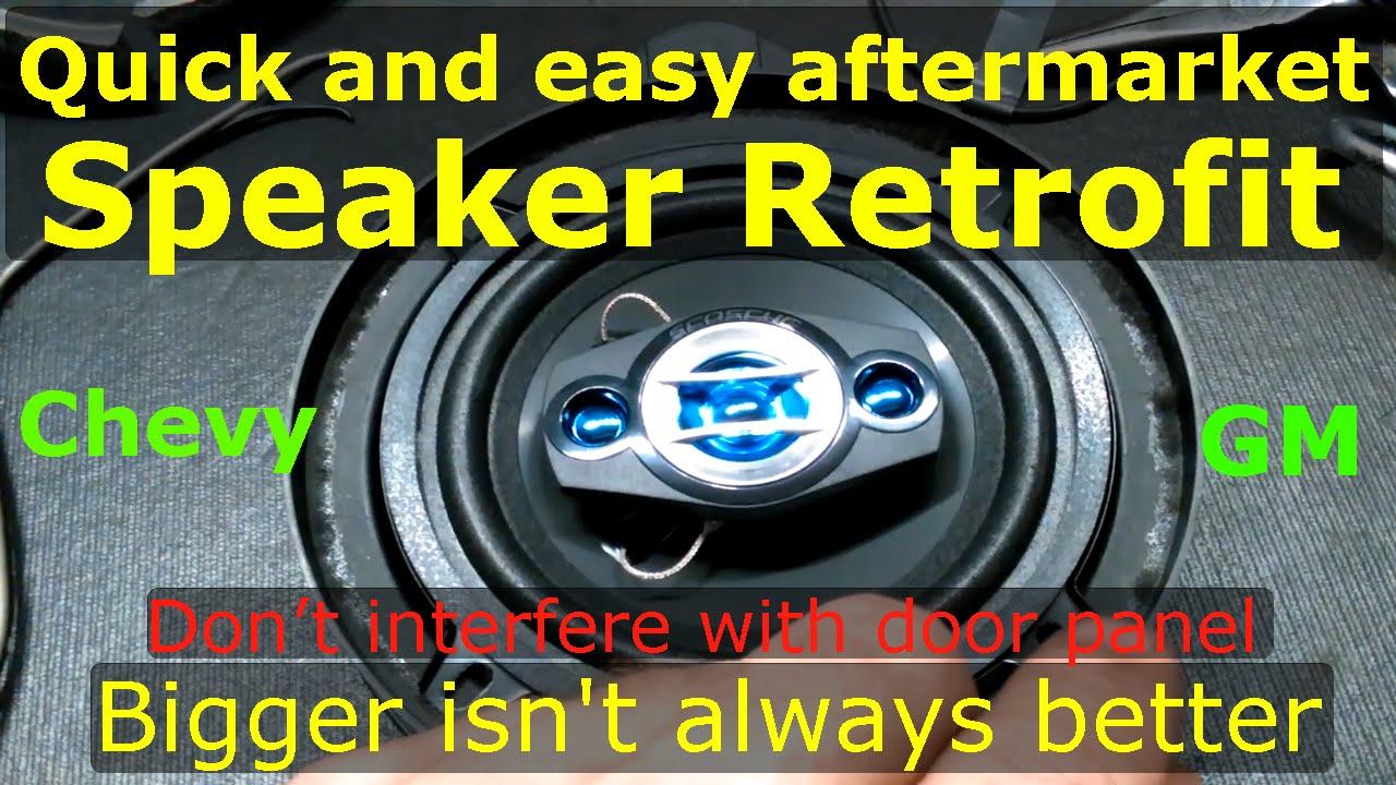 GM Chevy front speakers no sound, quick fix Retrofit