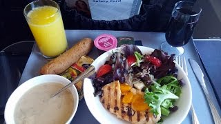 4k Uhd United Airlines Food Service First Class Domestic Lunch Grill Chicken Salad 737-900er
