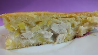 Пирог курник на  кефире с картофелем достоин оваций гурманов.