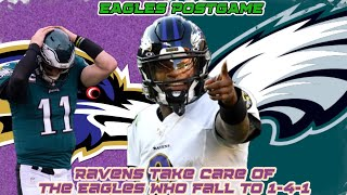 Nate Gerry STINKS...Eagles Lose | Ravens VS Eagles Postgame