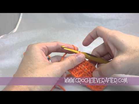Half Double Crochet Tutorial #5: HDC In The Back Loop Only