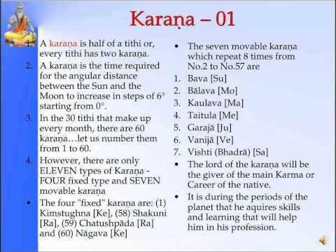 Panchanga--karaṇa 01-Slide 26 of 35- Pt. Sanjay Rath