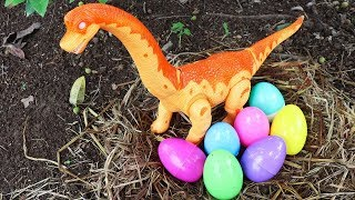 Dinosaur Eggs Surprise Learn Car Names Vehicles   Toy cars construction vehicles toys for kids