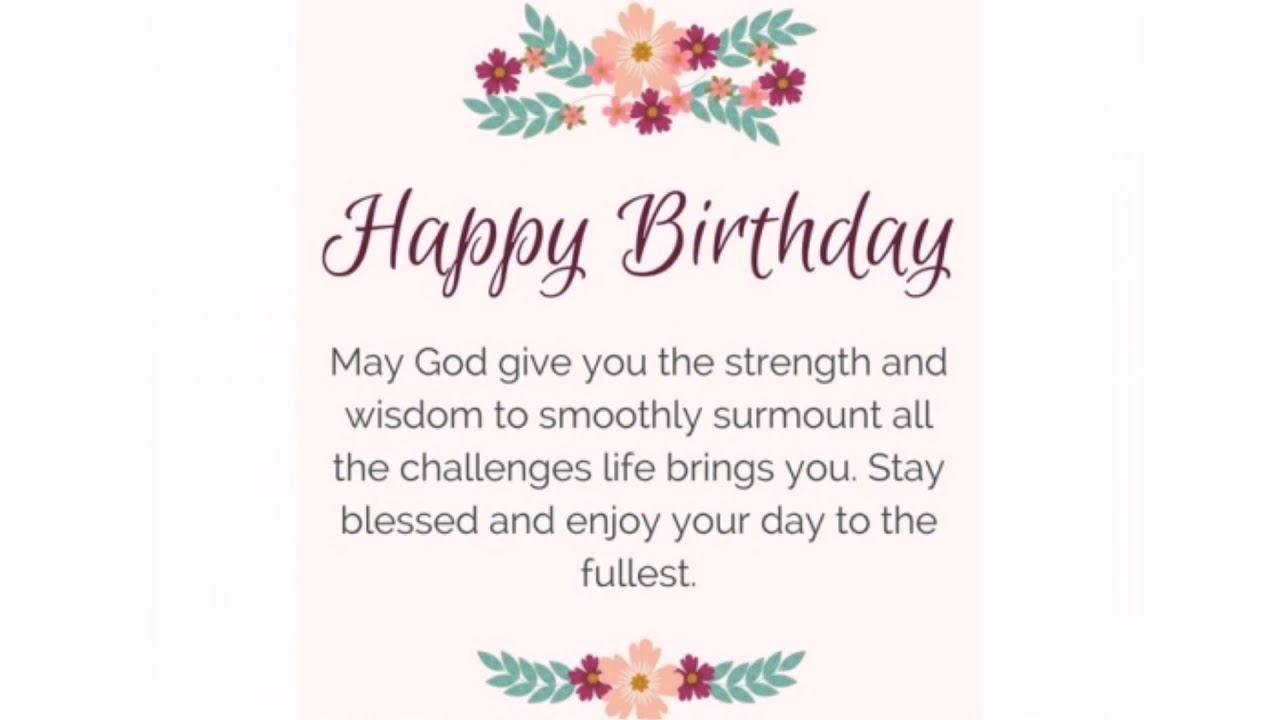 40 Happy Birthday Prayers Wishesgreeting