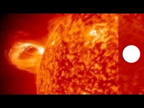 NASA captures sun burst on camera