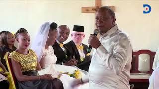 Uhuru Kenyatta's message to Murang'a Senator Irungu Kang'ata on his wedding day