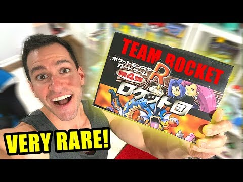 *VINTAGE TEAM ROCKET BOX OF POKEMON CARDS FROM JAPAN!* Opening It