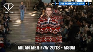 MSGM Milan Men Fashion Week Fall 2018 College Life Direction Collection | FashionTV | FTV
