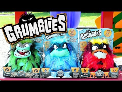 GRUMBLIES Toy! Epic MELTDOWN Guaranteed! Unboxing And Review On Grumblies Hydro, Scorch And Tremor