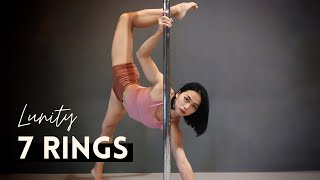 MVMT   Intermediate static pole choreography (7 Rings acoustic - Lunity)