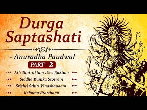 Durga Saptashati in Hindi & Sanskrit (Part - 2) | Anuradha Paudwal | Anup Jalota