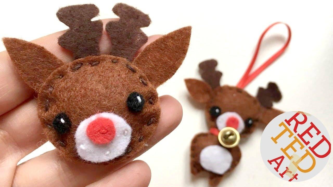 Kawaii Reindeer Badge & Ornament DIY - Christmas Sewing for Beginners - Free Pattern